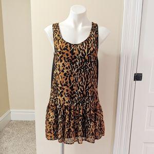 💘 MINKPINK leapord print layer swing dress.